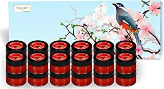 Lip Balm Gift Set - All Natural - Herbal Lip Therapy - Pack of 24 X 10 Gms - Beautiful Gift Packs - Vaadi Herbals (Gift Se...