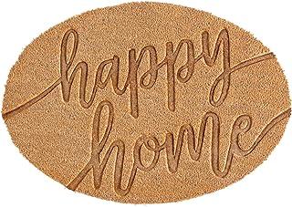 """Mud Pie Happy Home Doormat, Brown (21"""""""" x 30"""""""""""")"""