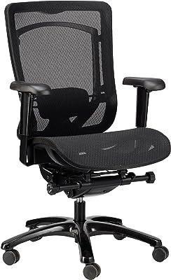 Eurotech Seating Monterey Mesh Seat & Back Chair, Black