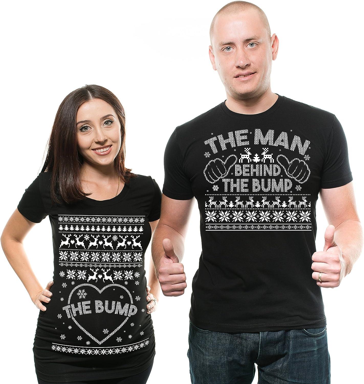 Christmas Couple 直営店 Maternity Shirts Pregnancy Bump True Mat 定番スタイル