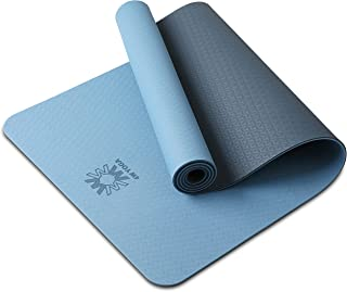 "WWWW 4W Yoga Mat Eco Friendly TPE Non Slip Yoga Mats by SGS Certified with Carrying Strap,72""x24"" Extra Thick 1/4"" for Yoga Pilates Fitness Exercise Mat"