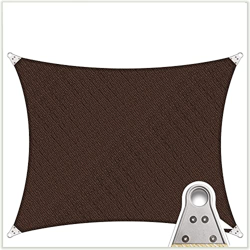 2021 ColourTree Super Ring Customized discount Size Order to Make Custom Size 24' x 29' Brown Sun Shade Sail CTAWR0812 wholesale Canopy Awning Shades for Patio-260 GSM-Commercial Standard Heavy Duty outlet online sale