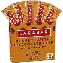 Larabar Gluten Free Bar, Peanut Butter Chocolate Chip, 1.6 oz Bars (5 Count), Whole Food Gluten Free