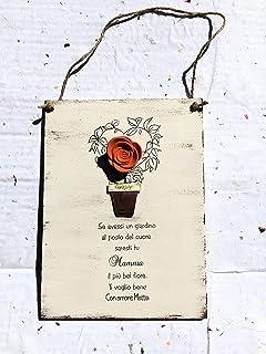 Idea regalo festa della Mamma - Targa in legno personalizzata regali personalizzati Natale amici madre compleanno