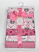 "Lovable and Cozy 4-Pack Receiving Baby Blankets - 100% Cotton 26"" x 26"" Your Little One Will Love"
