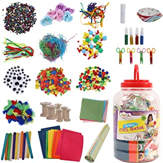 Kraftic All in One Jumbo Craft Bucket, Create Over 200 Assorted Craft Projects