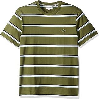 Lacoste Men's S/S Striped Jersey T-Shirt Shirt, Marsh/Creek/White/Navy Blue, 3XL