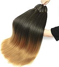 Pre Stretched Braiding Hair 8 Packs Easy Braid Hair, Hot Water Setting Professional Soft Yaki Texture Crochet Twist Kanekalon Ombre Braiding Hair Extensions (26'', 1B/27)