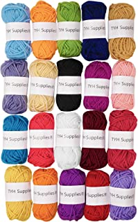 TYH Supplies 20-Pack 22 Yard Acrylic Yarn Assorted Colors Skeins – Perfect for Mini..