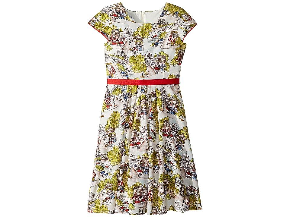 fiveloaves twofish Merci Fit N Flare Dress (Big Kids) (Ivory) Girl