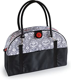 2 Red Hens Coop Carry-All Diaper Bag, Grey Damask