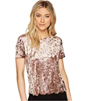 Brigitte Bailey - Avah Short Sleeve Velvet Top