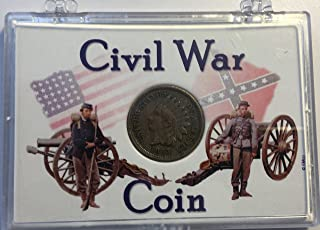 1863 P Indian Head Civil War Coin Comes in a plastic holder Penny Cent Good-Very Good