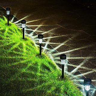 GIGALUMI 12 Pack Solar Garden Lights Outdoor, Bright Solar Powered Landscape Lights, Waterproof Solar Lights Outdoor for P...