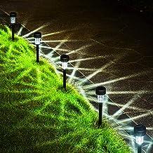 GIGALUMI Solar Pathway Lights Outdoor 12 Pack, Bright Solar Powered Garden Lights, Waterproof Solar Landscape Lights Outdo...