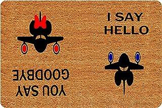 MOMOBO Funny Doormat with Rubber Back -Hello Goodbye Door Mat Entrance Way Doormat Non Slip Backing Funny Doormat Indoor O...