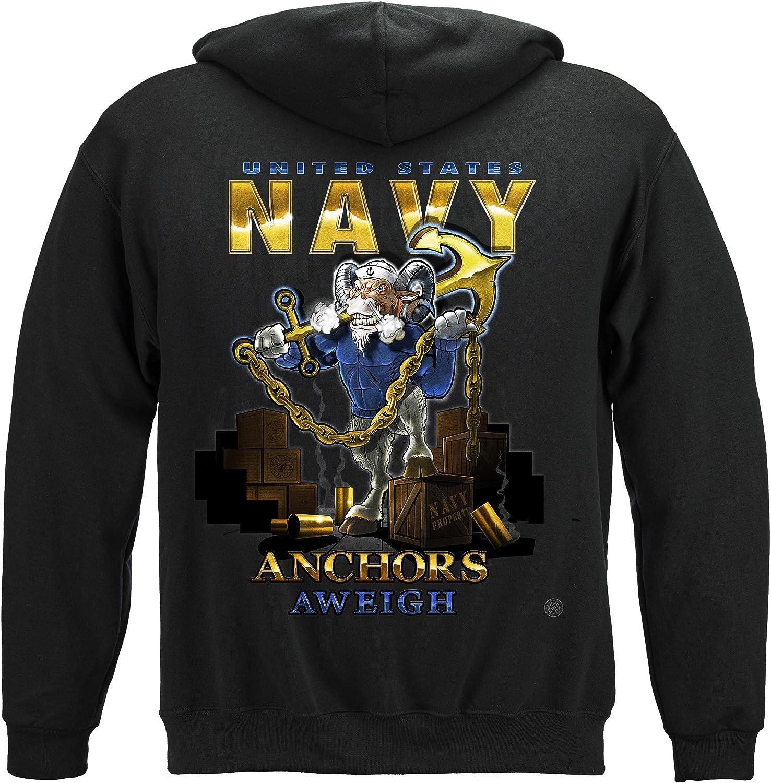 Erazor 激安通販販売 Bits US Navy 予約販売 Hooded Goat Shirt Locker Unite Sweat