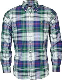 Men's Plaid Long-Sleeve Oxford Woven Shirt