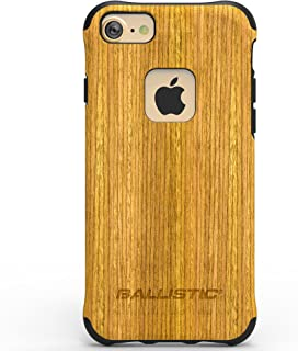 iPhone 7 Case, Ballistic [Urbanite Select] Honey Wood on Back Panel with Black Trim Bumper Six-sided - 6ft Drop Test Certified Case Protection Honey Wood with Black Trim Phone Case for iPhone 7