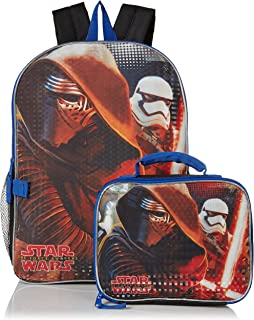 Boys' Kylo Ren and Stormtrooper Backpack with Lunch Kit, black