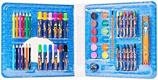 Maleta Artística Hot Wheels, Mattel, 7897476676326, Multicor, pacote de 52