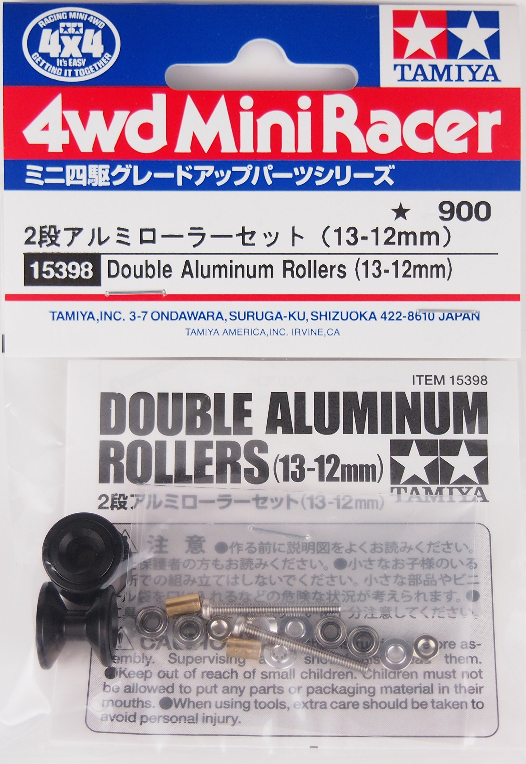 RCECHO® Tamiya Mini 4WD Model Racing Double Aluminum Rollers (13-12mm) 15398 174; Full Version Apps Edition