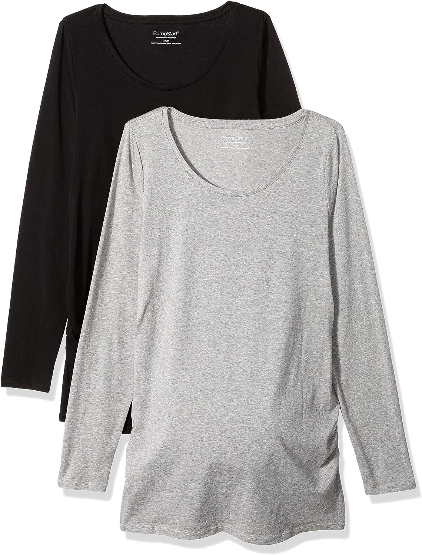 Motherhood Maternity Women's Bumpstart 2 Pack Long Sleeve Tee Shirts