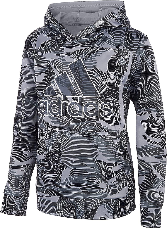 adidas Boys' Warp Camo Allover Print Pullover Hoodie