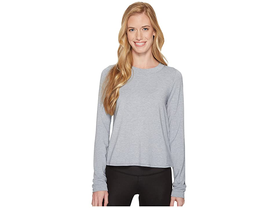 Under Armour Modal Terry Crew Top (Steel Fade Heather/Tonal) Women