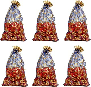Evisha Net Jari Potli Pouch Bag - 20pcs (Multicolor, Size 23x16 cm)