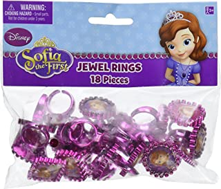 """Disney Sofia the First Jewel Ring Princess Birthday Party Accessory Favour and Prize Giveaway (18 Pack), Multi Color, 1""""H ..."""