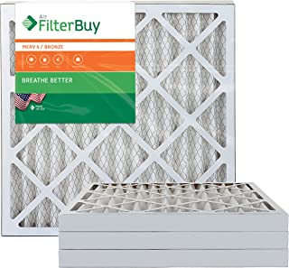 AFB Bronze MERV 6 20x20x2 Pleated AC Furnace Air Filter. Pack of 4 Filters. 100% produced in the USA.