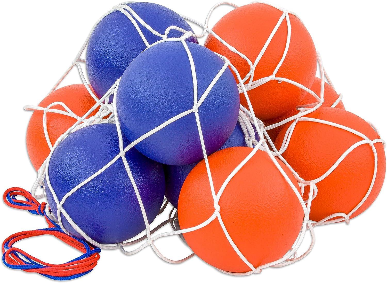 Betzold 100149 - Softball-Set - 10 Schaumstoffblle im Ballnetz, 16 cm Spielball, wasserabweisend