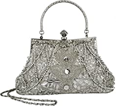 MG Collection Louise Beaded and Sequined Evening Bag