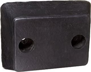 DB-13-T Rubber Molded Dock Bumper, Rectangular, 2 Holes, 13