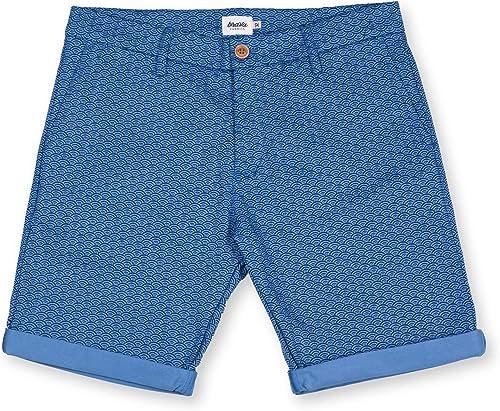 01300ee7b03d 100% - Estampada Casual Bermuda - azul Estampaño Hombre Corto ...