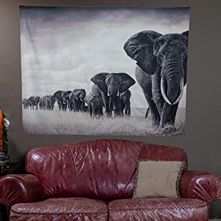 Elephant Wall Hanging Tapestry (59 x 79 Inches) Nature Designs Wall Tapestry for Bedroom, Living Room, Apartment Decor - Hardware Included