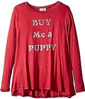 People's Project LA Kids - Buy Me Pup Knit Long Sleeve Tee (Big Kids)