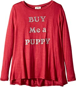 People's Project LA Kids - Buy Me Pup Knit Long Sleeve Tee (Big Kids)