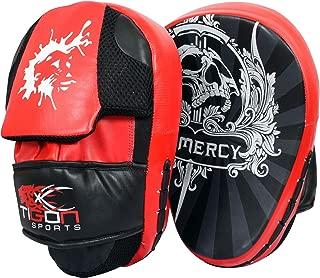Tigon Sports Focus Pads Hook & Jab Mitts Kick Boxing MMA Strike Punch Bag Muay Thai Curved
