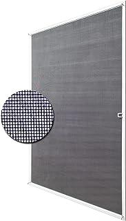Deco4Me Insectenwerend frame, vliegengaas, wit, vrij aanpasbaar, tot 130 x 150 cm, muggenbescherming, aluminium frame, bou...