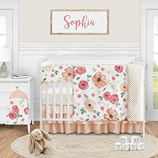 Blue and White Vintage Floral Crib Bedding Set Indigo Blue Roses Baby Changing Pad Cover Shabby Chic Nursery Crib Sheet Girl