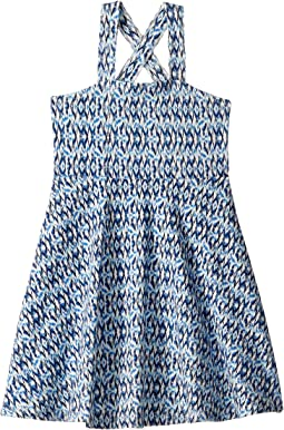 Multi Blue Print Tank Skater Dress (Toddler/Little Kids/Big Kids)