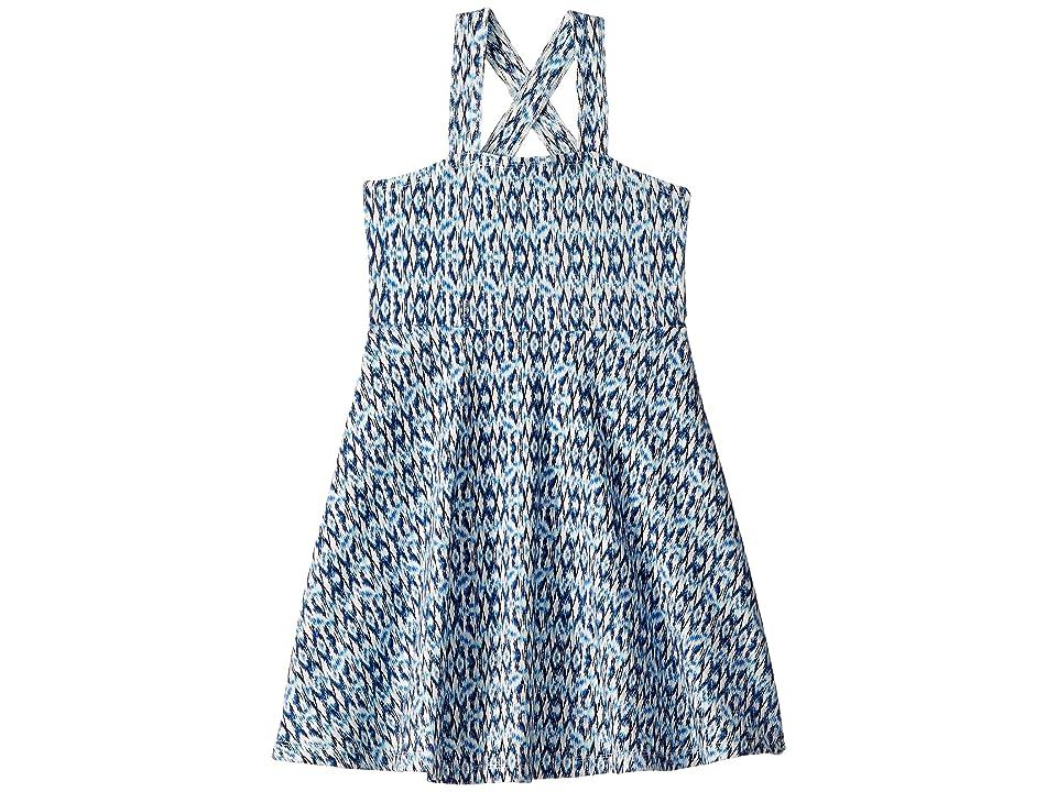 Toobydoo Multi Blue Print Tank Skater Dress (Toddler/Little Kids/Big Kids) (Blue) Girl