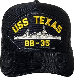 United States Navy USS Texas BB-35 Aircraft Carrier Ship Emblem Patch Hat Navy Blue Baseball Cap