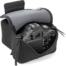 DSLR Camera Case by USA GEAR with Accessory Storage , Flexible Neoprene & Belt Loop - Works With Canon EOS-1D X Mark III , 80D , and Many Other DSLR & Mirrorless Cameras