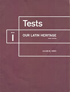 Tests: Our Latin Heritage (Book 1)
