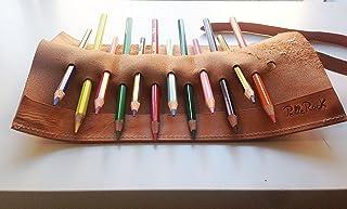 Astuccio per matite in cuoio artigianale