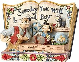 Enesco Jim Shore Disney Traditions Pinocchio Storybook Figurine