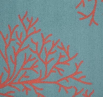 Coral Blue 5x7 Birth Announcement Green Vintage Floral